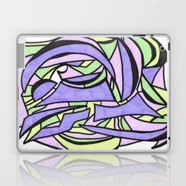 Pastel Party Play Graffiti Style Abstract Drawing Laptop & iPad Skin