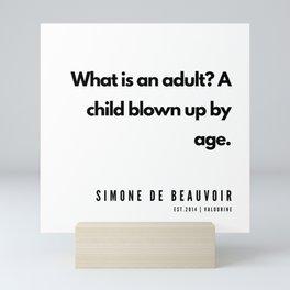 37      Simone De Beauvoir Quotes   190605 Mini Art Print