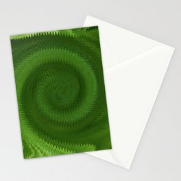Green Ripples Stationery Cards