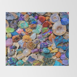 Rocks and Minerals, Geology Throw Blanket
