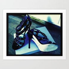 Shoes - Jimmy Choo sandals Art Print
