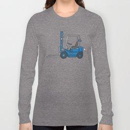Blue fork-lift truck Long Sleeve T-shirt