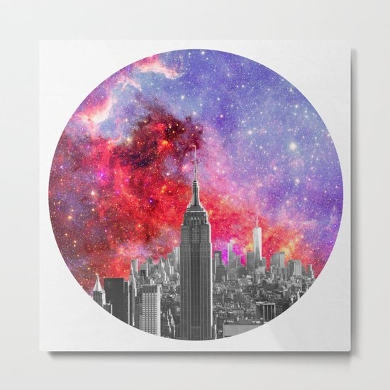 NEBULA NEW YORK Metal Print
