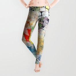 """Paul Klee """"Birds Swooping Down and Arrows"""" Leggings"""