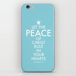 Let PEACE rule. iPhone Skin