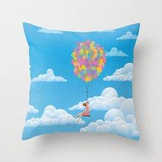 Balloon Girl Throw Pillow