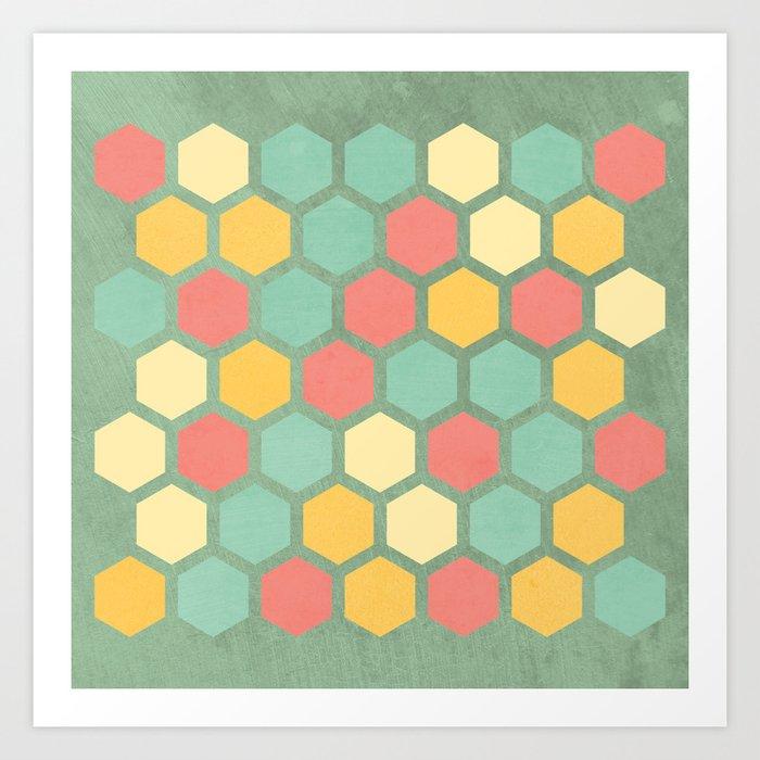 Summer bees, makes me feel fine Art Print