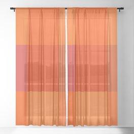 Orange palette Sheer Curtain