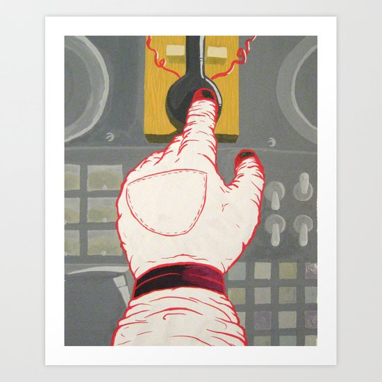 Space Hand Art Print