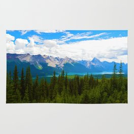 Bald Hills Hike in Jasper National Park, Canada Rug