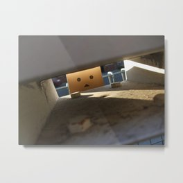 Danbo Through the Letterbox Metal Print