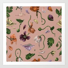 Melting Poppies Art Print