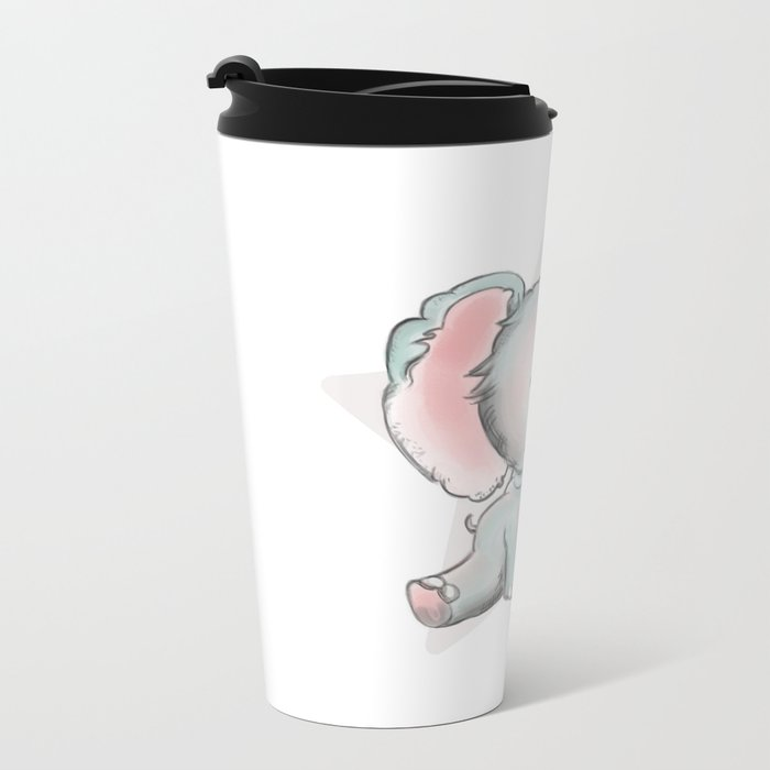 Baby Elephant Metal Travel Mug