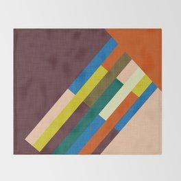 Meridian Orange #homedecor #midcenturymodern #midcentury Throw Blanket