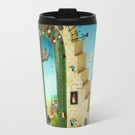 stairs and green arch with fabulous items Travel Mug