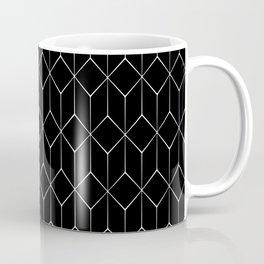 Hexagonal Black and White Coffee Mug