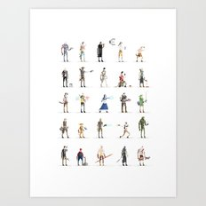 Videogame Pixel Art Art Print