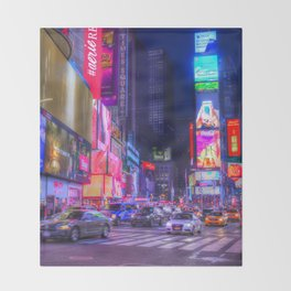 Times Square New York Throw Blanket