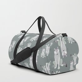 Canadian Wolf Pattern (C) 2017 Duffle Bag
