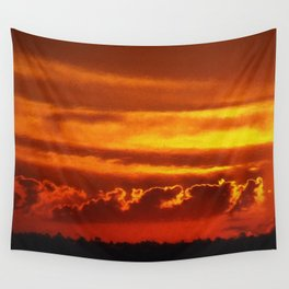 Sunset Layers   Ferntree Gully Wall Tapestry