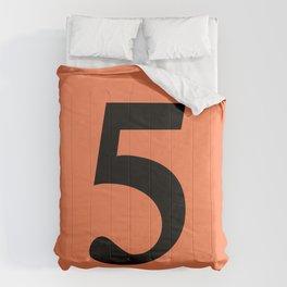5 (BLACK & CORAL NUMBERS) Comforters