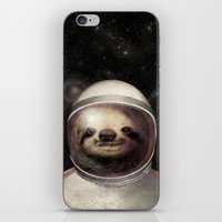 sloth iPhone & iPod Skins featuring Space Sloth  by Eric Fan