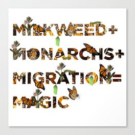 Monarch Magic Canvas Print