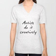 Artists Do It Creatively 2 Unisex V-Neck