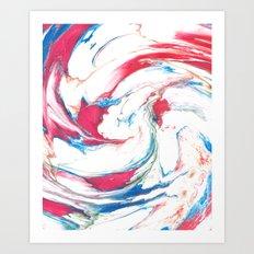 Marbling #3 Art Print