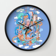 George's place Wall Clock