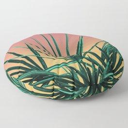 Vaporwave Palm Life - Miami Sunset Floor Pillow