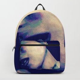 You're No Angel: Violet (sexy watercolor female portrait) Backpack