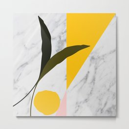 Tropical Marble Metal Print