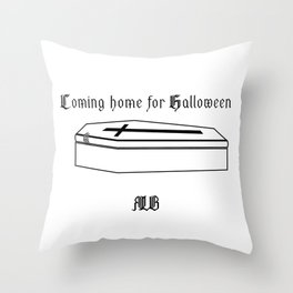 Coming home for Halloween_invers Throw Pillow