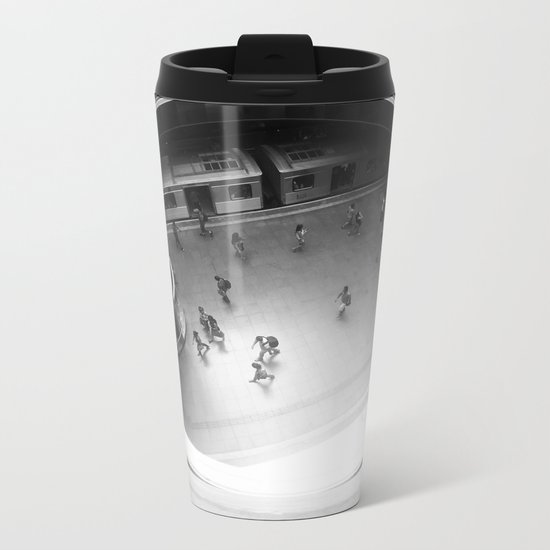 Subway Station Metal Travel Mug