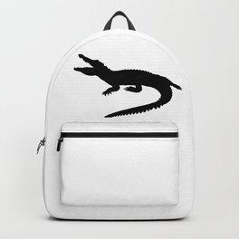 Crocodile Black Silhouette Animal Pet Cool Style Backpack