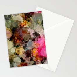 Paint Splatter Bouqet  Stationery Cards