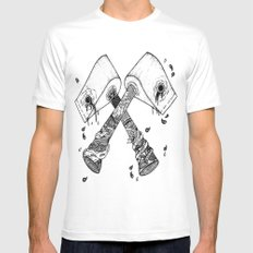 chop some wood MEDIUM White Mens Fitted Tee