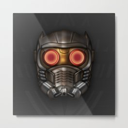 Icon Series 3: (Masks 1/3) Peter Quill AKA Star-Lord's Mask. Metal Print