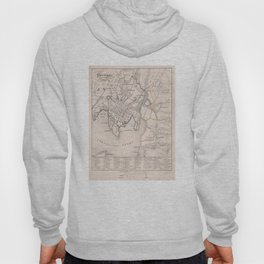 Vintage Map of Oslo Norway (1843) Hoody