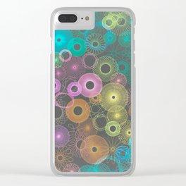 Inverted retro multi spiro Clear iPhone Case