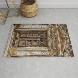 Roman Marble Doorway Photograph Rug