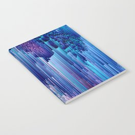 Beglitched Waterfall - Abstract Pixel Art Notebook