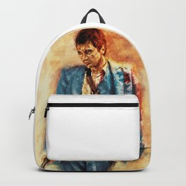 Digital painting of Tony Montana - Scarface Backpack