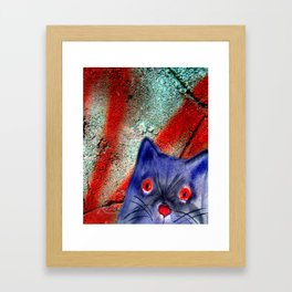 Gordon The Graffiti Cat Framed Art Print