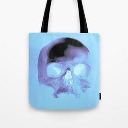 Cyan Skull Tote Bag