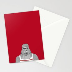 Gorillas love exercise Stationery Cards