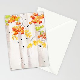 Autumn Birch Song Stationery Cards