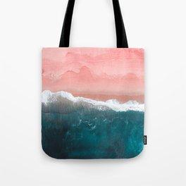 Turquoise Sea Pastel Beach II Tote Bag
