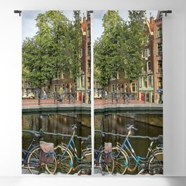Canal Crossing - Amsterdam Souvenir Blackout Curtain